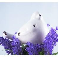 White ceramic bird