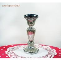 Aukso spalvos cilindro formos žvakidė, maža