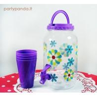 Plastikinis indas su kraneliu, violetinis