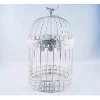 Pakabinamas apvalus dekoratyvinis narvelis su paukšteliu, vidutinis