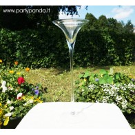 Martini-shaped Glass Vase