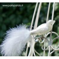 Dekoratyvinis paukštelis su plunksna