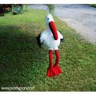"Plush decoration ""Stork"""