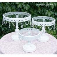 Elegantiška tortinė su kristaliukais, rinkinys 3 vnt.