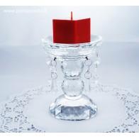 Stiklinis šeimos židinys - žvakidė