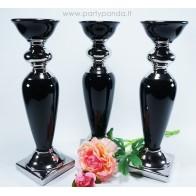 Prabangi juodai sidabrinė žvakidė