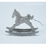 Christmas Toy - Horse, Silver