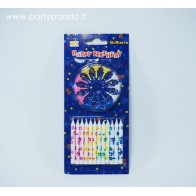 Birthday candles, 12 pcs.