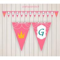 """Popierinė gimtadienio girlianda """"Princesė"""""""