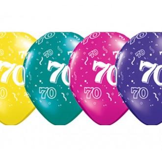 Gimtadienio balionas su skaičiumi 70, 5 vnt.