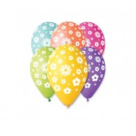 Balloons with flowers, 5 pcs.