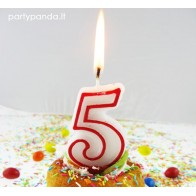 """Birthday Candle """"Number 5"""""""