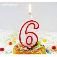 """Birthday Candle """"Number 6"""""""