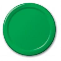 Vienkartinės popierinės lėkštutės, žalios (8 vnt./18 cm)