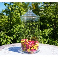 Oblong Glass Jar With a Lid