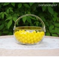 Stiklinė saldaininė-krepšelis