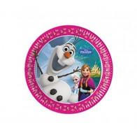 """Vienkartinės popierinės lėkštutės """"Ledo šalis/Frozen"""" (8 vnt./19,5 cm)"""