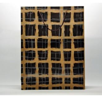 Popierinis dovanų maišelis iš perdirbto popieriaus, rudas