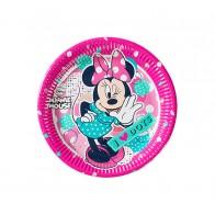"""Vienkartinės popierinės lėkštutės """"Minnie mouse"""" (8 vnt./19,5 cm)"""