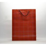 Popierinis dovanų maišelis iš perdirbto popieriaus, raudonas