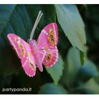 Dekoratyvinis drugelis segtukas, ružavas