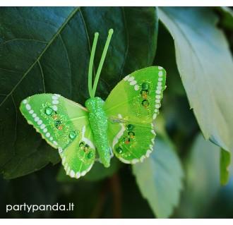 Dekoratyvinis drugelis segtukas, salotinis