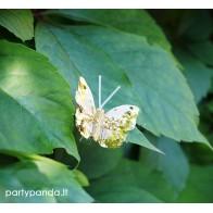 Dekoratyvinis drugelis segtukas, auksinis