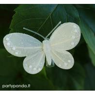 Dekoratyvinis drugelis segtukas, baltas