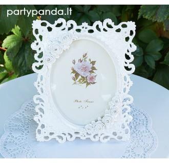 Balti vestuviniai rėmeliai