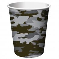 """Vienkartiniai popieriniai puodeliai """"Karinė operacija"""" (8 vnt./266 ml)"""