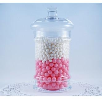 Stiklinis indas su dangteliu saldainiams