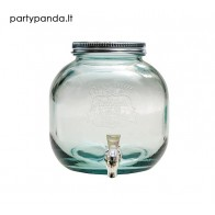 Stiklinis indas su kraneliu, 5 l