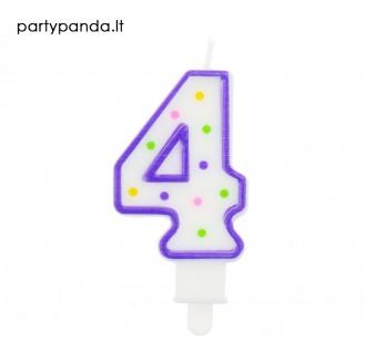 Torto žvakutė skaičius 4