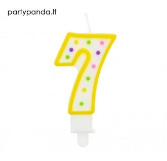 Torto žvakutė skaičius 7