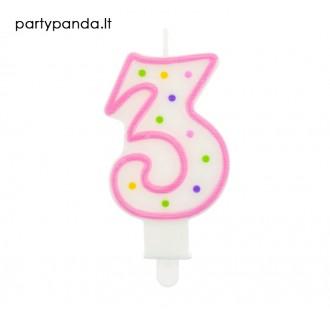 Torto žvakutė skaičius 3