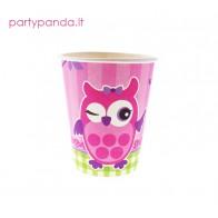 """Popieriniai puodeliai """"Rožinė pelėda"""" (6 vnt./270ml)"""