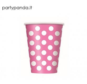 Popieriniai puodeliai, rožiniai, su burbuliukais (6 vnt./270ml)