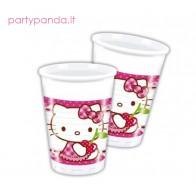 """Plastikiniai vienkartiniai puodeliai """"Hello Kitty"""" (8 vnt./200 ml)"""