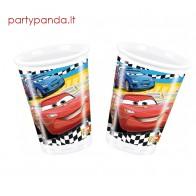 """Plastikiniai vienkartiniai puodeliai """"Ratai/Makvynas"""" (8 vnt./200 ml)"""
