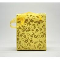 Geltonas blizgus dovanų maišelis