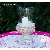 Elegantiškas šeimos židinys vestuvėms, žvakidė