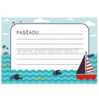 """Pažadų kortelė """"Jūros tema"""" 10x7 cm"""
