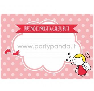 """Būsimos profesijos spėjimo kortelė """"Rožiniai angelai"""" 10x7 cm"""