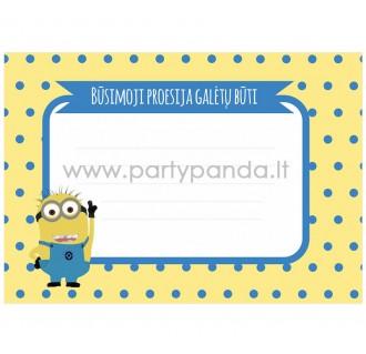 """Būsimos profesijos spėjimo kortelė """"Pimpačkiukai/Pakalikai"""" 10x7 cm"""