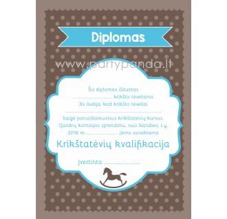"""Diplomas krikšto tėvams """"Arkliukas"""""""