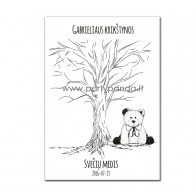 """Krikštynų svečių medis """"Meškiukas"""""""