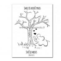 """Krikštynų svečių medis """"Drambliukas"""""""