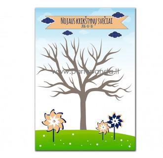 """Krikštynų svečių medis """"Vėjo malūnėliai"""""""