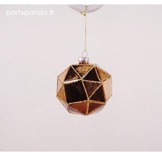 Aukso kalėdinis eglutės žaisliukas burbulas
