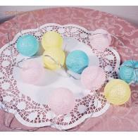 Medvilninių burbulų lemupučių girlianda